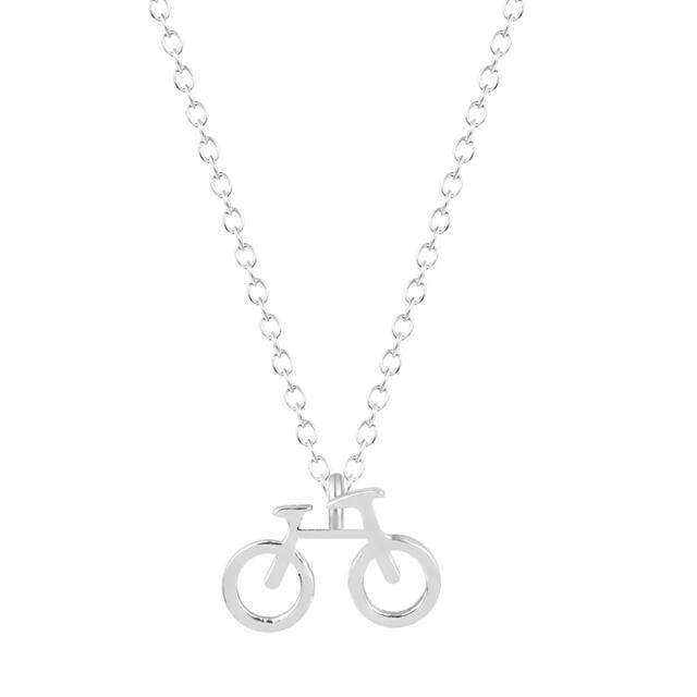 Collar bicicleta plata