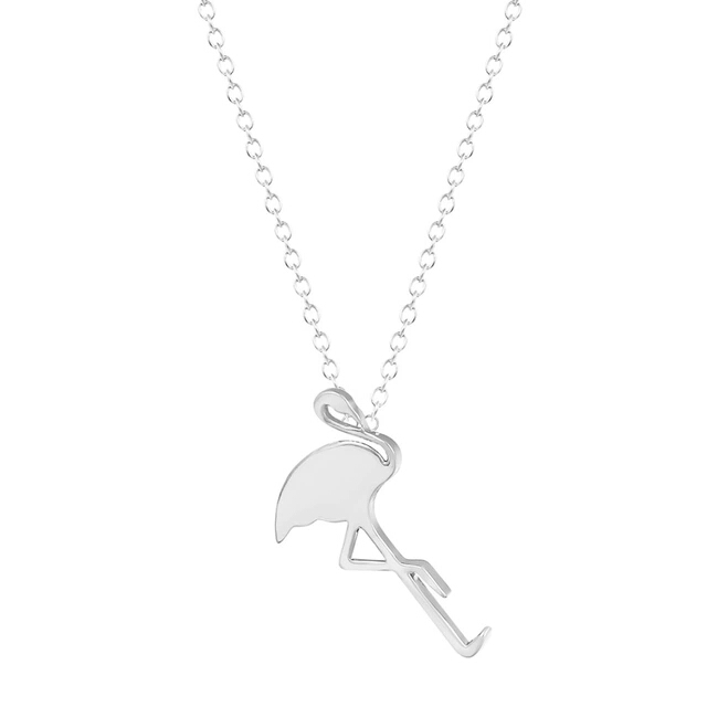 Collar flamingo plata