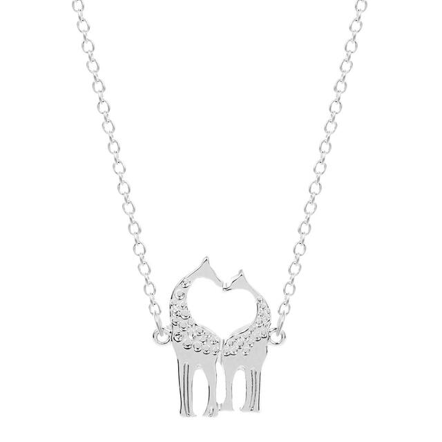 Collar jirafa plata