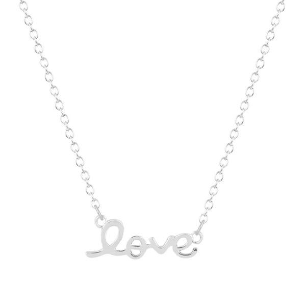 Collar love plata