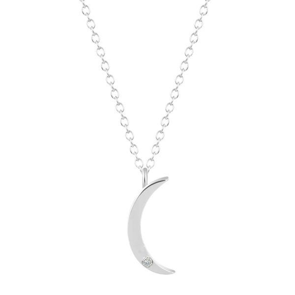 Collar luna plata