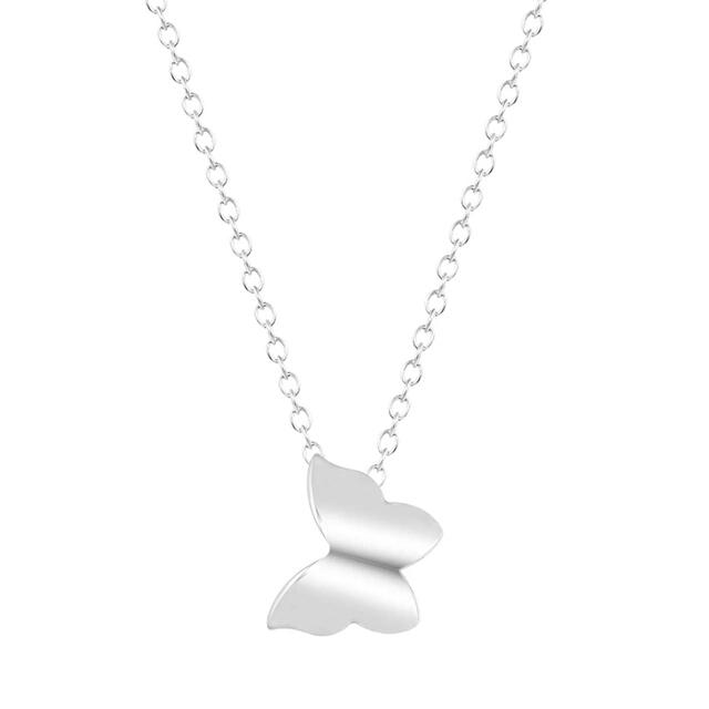 Collar mariposa plata