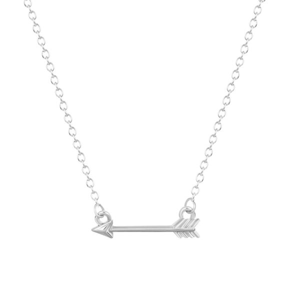 Collar minimalista flecha plata