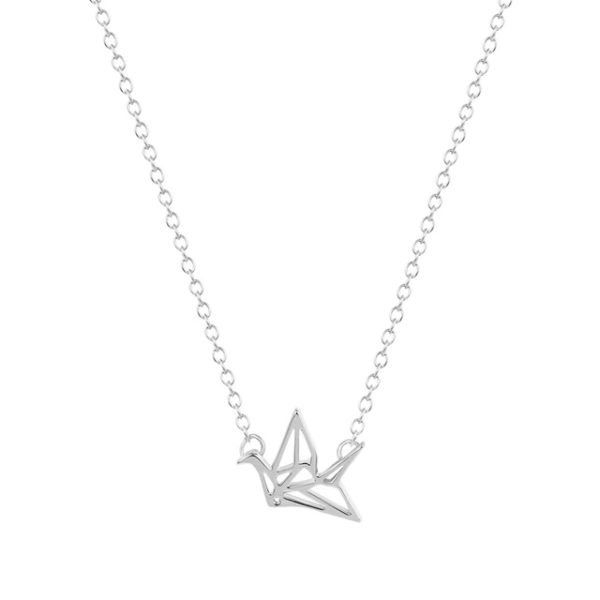 Collar origami plata