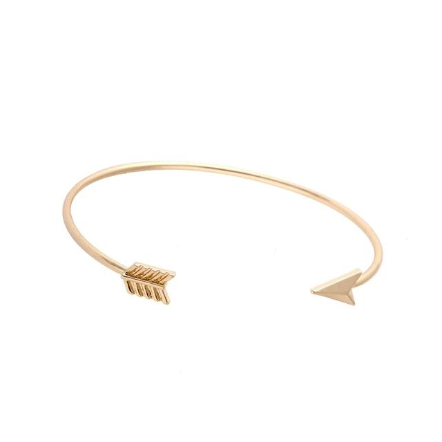 Pulsera ajustable flecha oro
