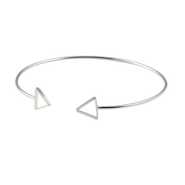 Pulsera tendencia flecha plata