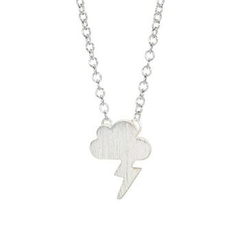collar nube plata