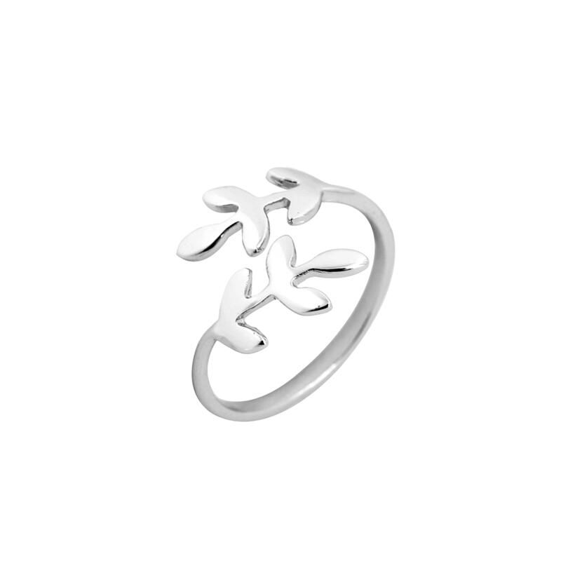 anillo mujer plateado