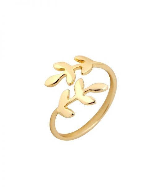 anillo dorado mujer