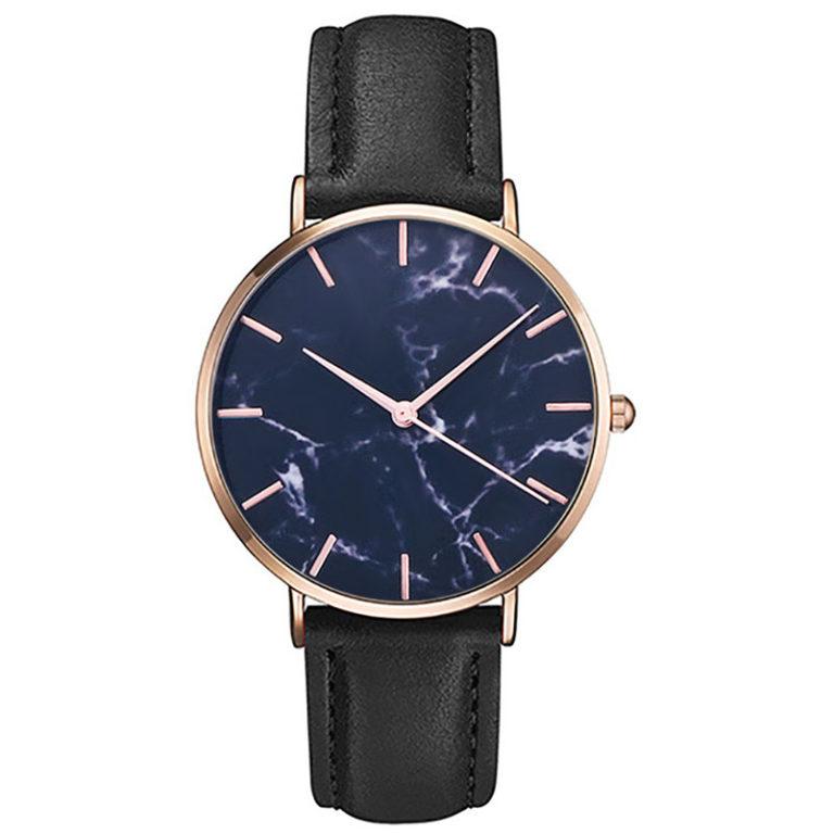 reloj marmol negro