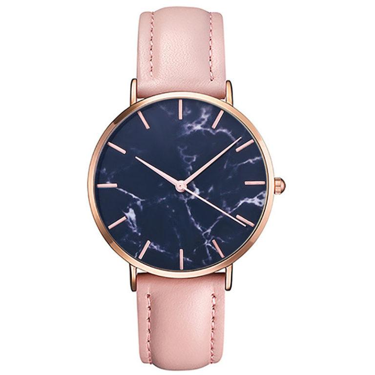 reloj marmol rosa