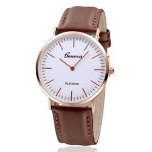 reloj minimalista marron
