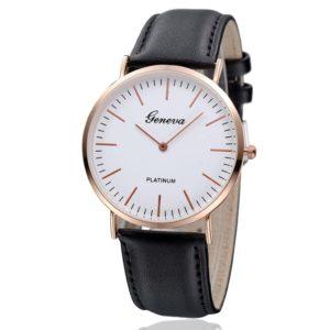 reloj minimalista negro
