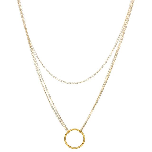 collar circulo dorado