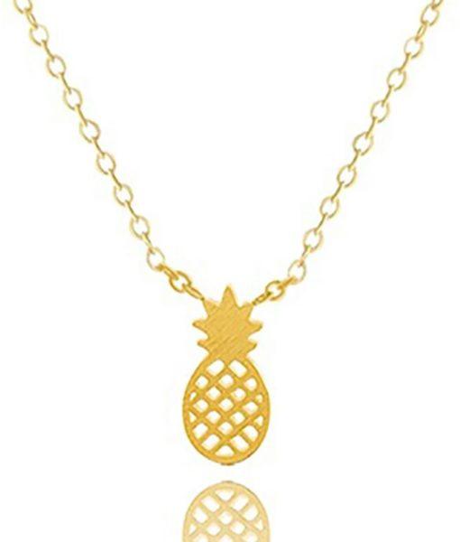 collar pina dorado
