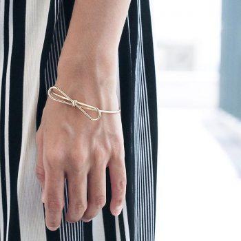 pulsera nudo dorado