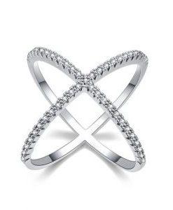 anillo circonitas cruz
