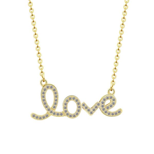 collar love dorado