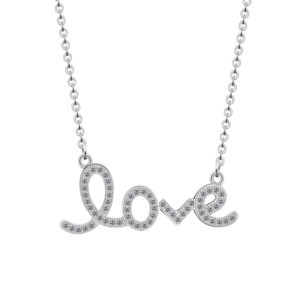 collar love plateado