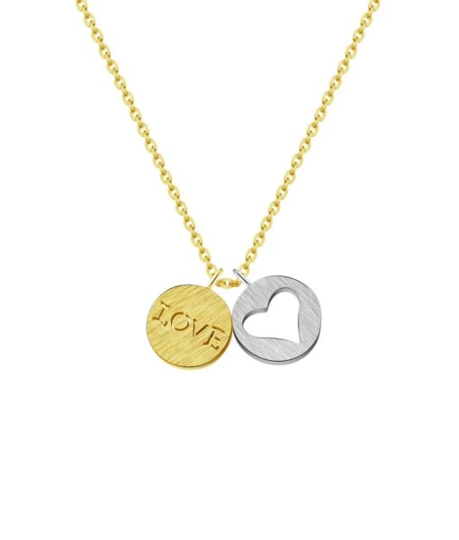 collar medalla love