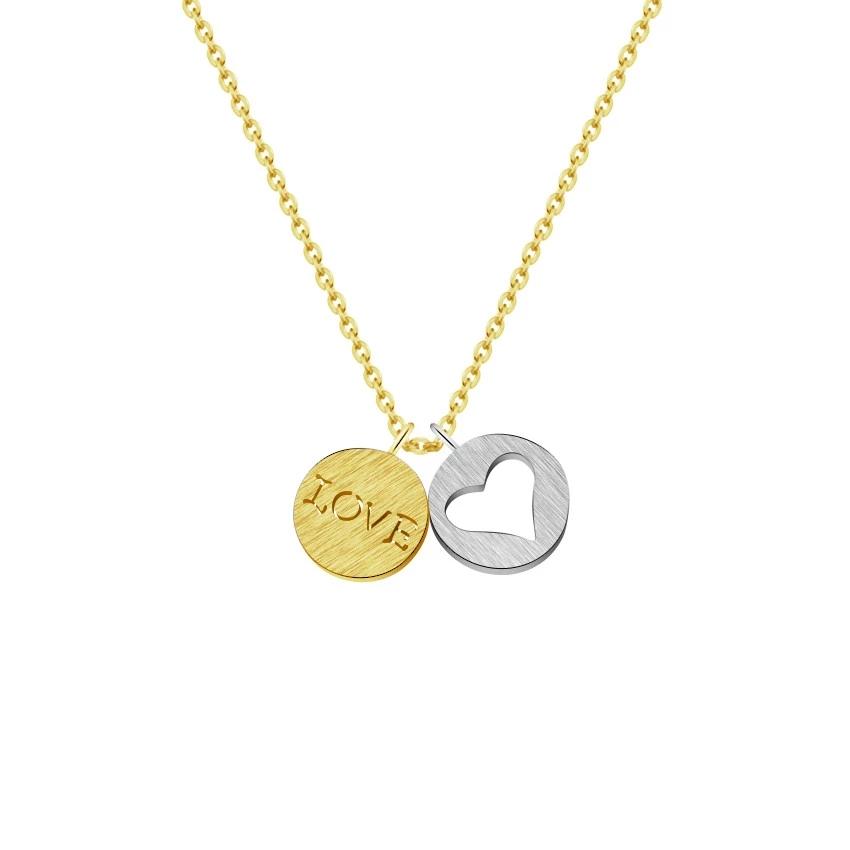 collar medalla love