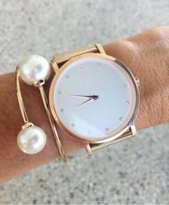 pulsera perlas mujer