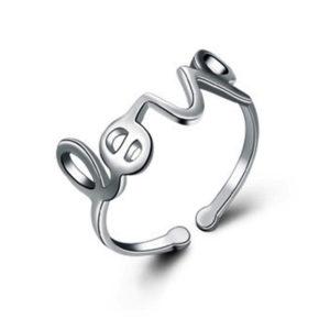 anillo love plata