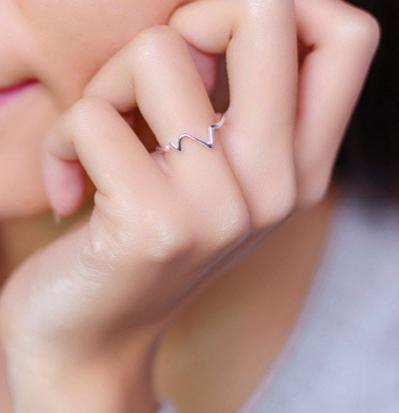 anillo zig zag mujer plata