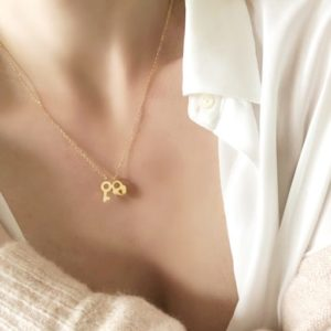 collar corazon llave