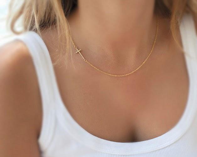 collar fino dorado