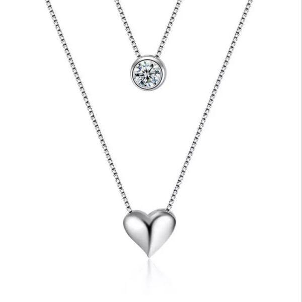 gargantilla corazon plata