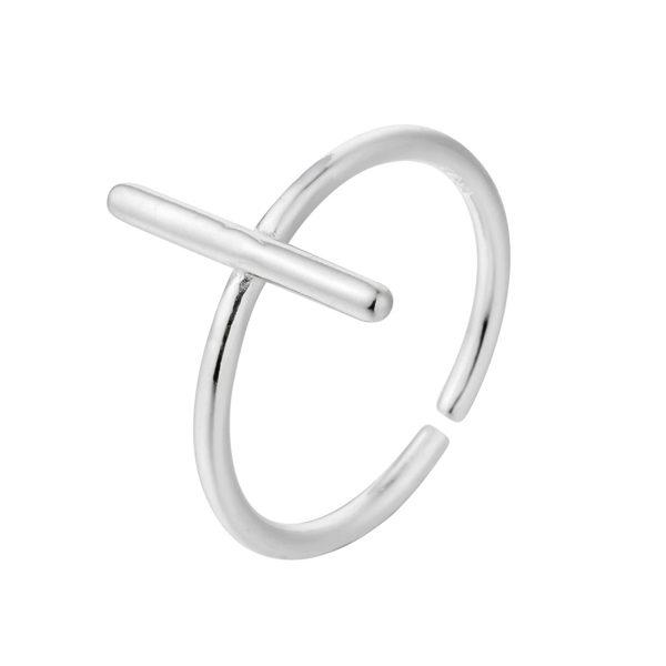 anillo cruz plata