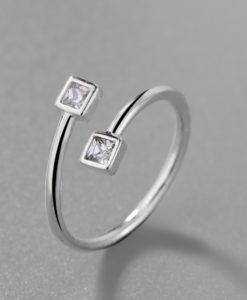 anillo midi piedra