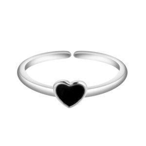 anillo minimalista corazon