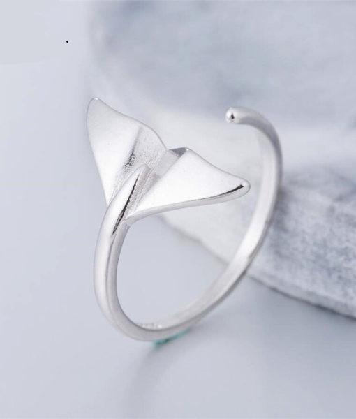 anillo plata sirena