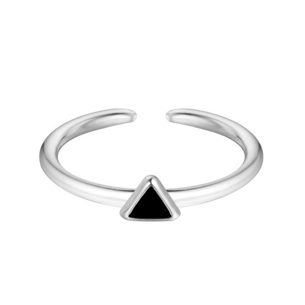 Anillo triangulo plata