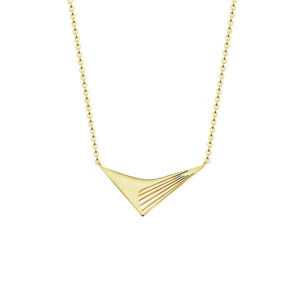 collar geometrico dorado