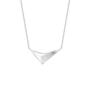 collar geometrico plateado