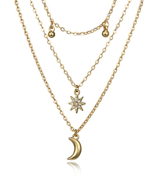 collar original colgante luna