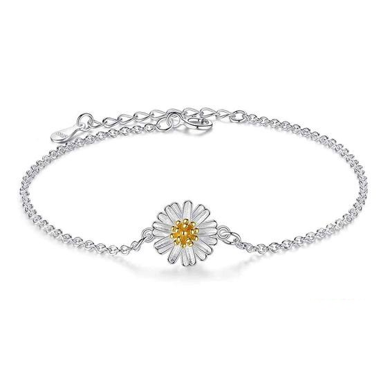 pulsera flor margarita