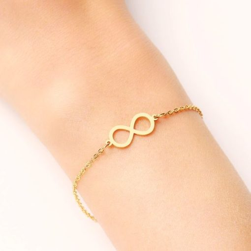 pulsera infinito dorada
