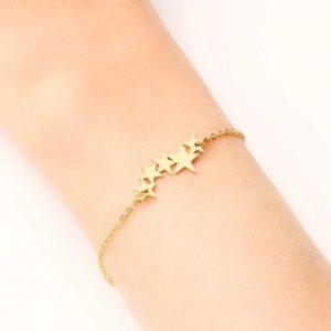 pulsera estrellas doradas