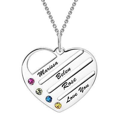 collar corazon personalizado