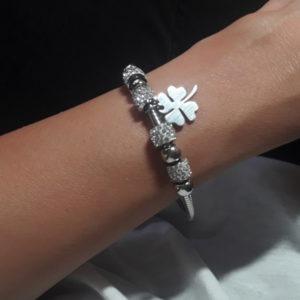 pulsera trebol plata regalo original