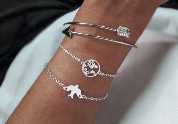 pulseras plateadas regalo mujer
