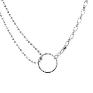 collar circulo plata 925