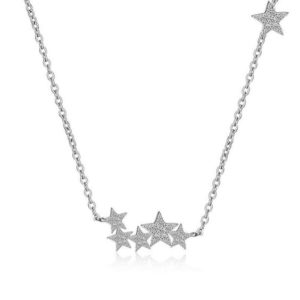 collar estrellas plata 925