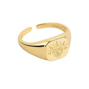 anillo corazon original plata de ley