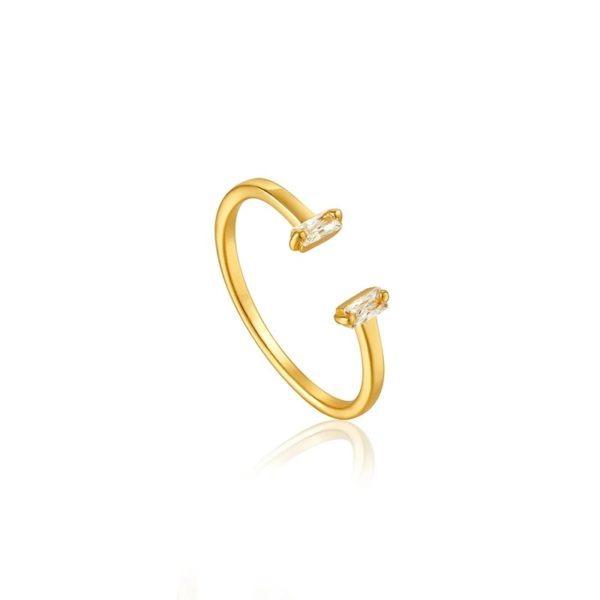 anillo minimalista oro tendencia