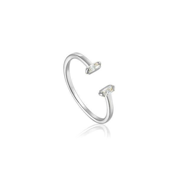 anillo estilo minimalista plata regalo